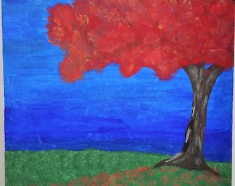 Fall maple tree painting