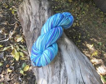 Hand Dyed Superwash Merino Nylon Sock Yarn, Hydrangea
