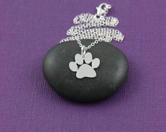 Dog Paw Canine Dog Pendant Necklace
