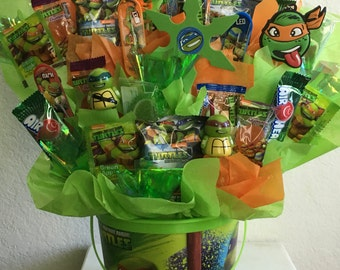 Turtles candy bouquet