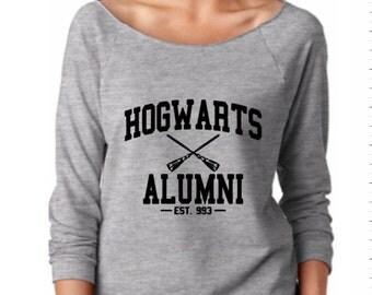 Hogwarts Alumni wideneck / off the shoulder lightweight shirt - Harry Potter gift