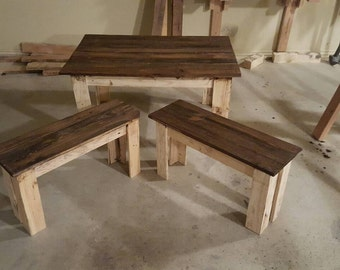 Children's Farmers table and benches
