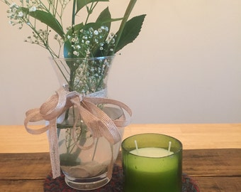 Green Wine Bottle Candle