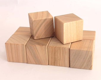 Toy wooden blocks set of 10 pcsBaby wood blocks,unfinished wood blank,wooden block,unfinished wood,wood blocks for painting eco wood