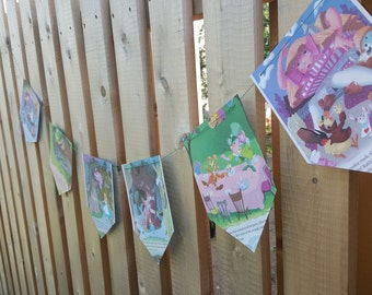 Alice In Wonderland Story Book Banner