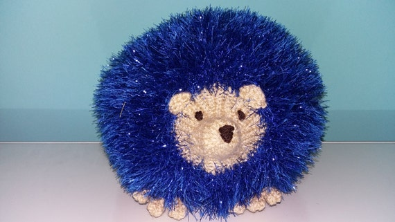 Hand made Knitted Harry the Blue Hedgehog by ...