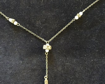 Sterling Silver, Marcasite and Pearl Necklace