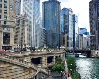 Chicago Riverwalk, Chicago River, Michigan Avenue, Chicago Skyline, Chicago Photography, City Photography, Chicago Wall Art, Chicago Prints