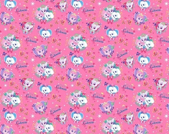 """Disney Fabric, Cats Fabric:  Disney Palace Pets Fabric - Royal Cuteness from Whisker Haven 100% cotton Fabric by the yard 36""""x43"""" (sc547)"""