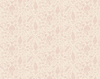 """Floral Fabric: Novelty Vintage style - Garden Damask Floral  by Rose Divine 100% cotton Fabric by the Yard 36""""x44"""" (N465)"""