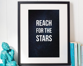 A3 Poster 'Reach For The Stars' - Great design for home decoration!