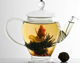 3 Tropical blooming flower tea, vegan tea, tea flower, organic tea, tropical flavors, yogi tea, yoga tea, yoga flower,tropical flower, tea