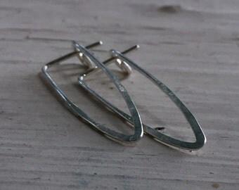 Triangle Hoop Earrings - Silver - Hoop Earrings - 3CM