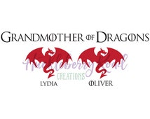 Grandmother of Dragons/Mother of Dragons Family Figures Vinyl Decal Inspired by Game of Thrones window car sticker
