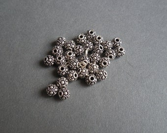 Sterling Silver Bali Style Beads - 5mm - 5/pack