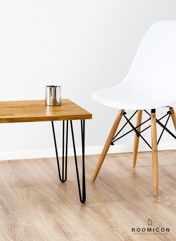4x hairpin legs tischbeine 35 cm haarnadelbeine mid century. Black Bedroom Furniture Sets. Home Design Ideas