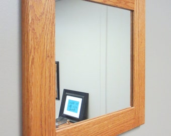Small Oak Wall Mirror