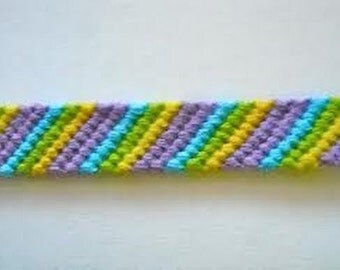 YOUR CHOICE with 3 - 6 colors friendship bracelets