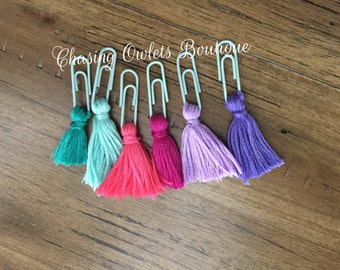 Tassel Bookmarks Set of 3