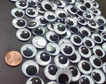 Black and white Googly eyes. 20 mm. 100 count.