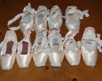 USED pointe shoe