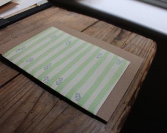 Floral Stripes Card