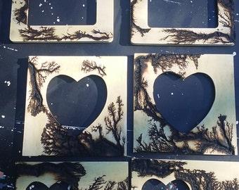 Lichtenberg Figure picture frames
