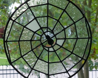 Stained Glass Spider Webs