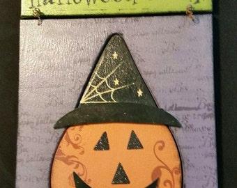 Halloween Party Pumpkin Wall Hanging
