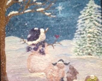 Snowman & Friends Painting