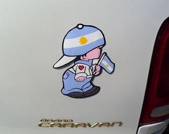 Boy Argentina flag decal Sticker