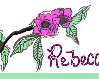 Personalized Flower Print