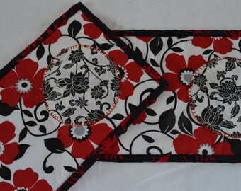 Mug Rugs - Reversible - Set of Two - Handmade