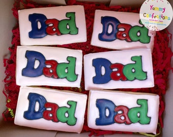 Fathers Day Birthday DAD Cookies - 1 Dozen (12 Cookies)