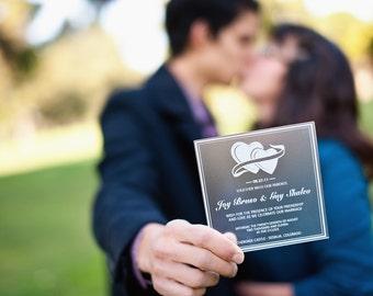 Acrylic Wedding Invitations