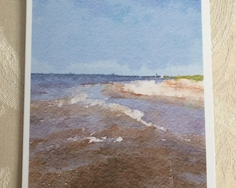 LowCountryNoteCards Beach Charleston Watercolor Stationery
