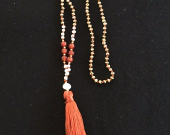 Raquel necklace w tassel