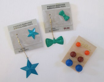 Awesome Vintage 80s Earrings Lot