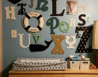 Nautical Themed ABC wall letters