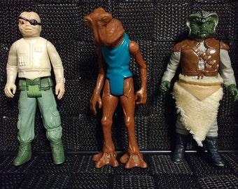 StarWars lot of three! Pruneface, Hammerhead, Klaatu