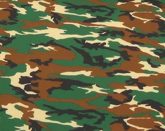 Spandex Lycra By The Yard - Camouflage