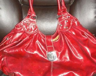Red hand bag  Should bag   Hobo bag  Red purse   Handbag    Top Handle bags