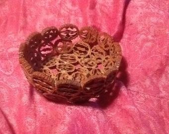 Vintage Walnut Bowl
