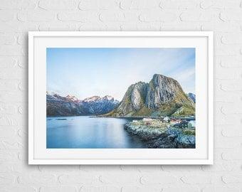 Scandinavia A4 art Photo Framed