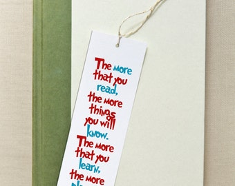 printable bookmarks, bookmarks, printable. quotes, inspirational,  instant download, suess