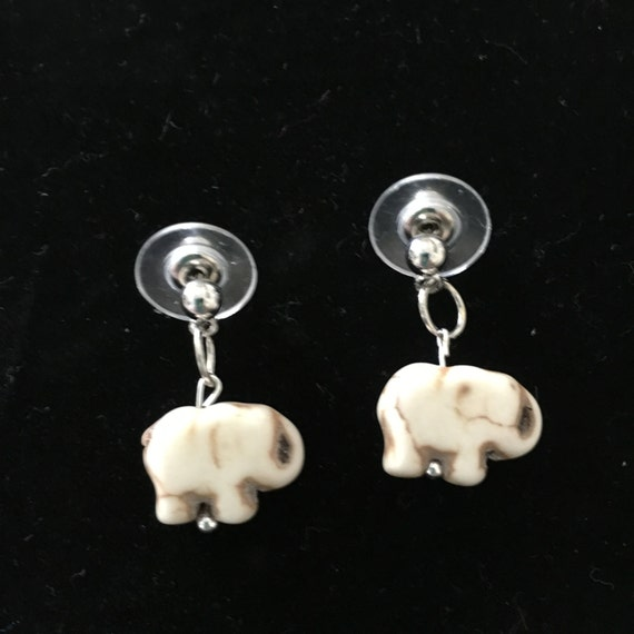 elephant earrings with studs