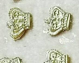 Mini gold sugar crown