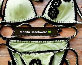 Handmade crochet and patchwork BeachWear.