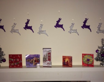 Set of eight Reindeer