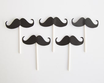 Black Mustaches toppers